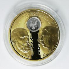 Medalie Carol I, Carol II - Monetaria Statului - 1 leu 1870 Argint - 2018