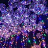 Set 10 Baloane cu LED , forma rotunda, diametru 60 cm
