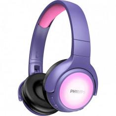 Casti Audio audio pentru copii Over-Ear Philips, TAKH402PK/00, Bluetooth, Autonomie 20h, Roz