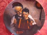 FARFURIE DECORATIVA PORTELAN - BRADEX AMERICA CU CERTIFICAT - NORMAN ROCKWELL