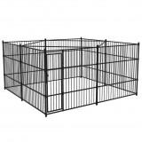 Padoc exterior pentru câini, 400 x 400 cm