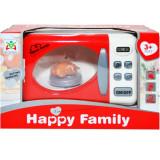 Cuptor cu microunde de jucarie cu lumini Happy Family 15 cm