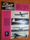 sport si tehnica august 1972-aeromodele,traian vuia,motocicleta-rediviva