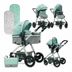 Carucior transformabil 3 in 1, Alexa, Green & Grey Birds