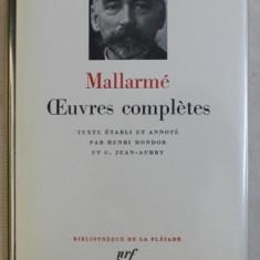 MALLARME - OEUVRES COMPLETES , BIBLIOTHEQUE DE LA PLEIADE , 1984 , EDITIE DE LUX *