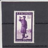 ROMANIA 1957  LP 437 - 80 ANI RAZBOI INDEPENDENTA  ROMANIA   MNH, Nestampilat