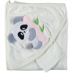 Prosop bebelusi, cu manusa, Ursulet roz