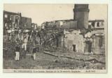 Cp real foto ww1 Salonic Grecia : Ruinele Braseriei engleze - 1917