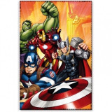 Paturica copii Avengers Star, 100 x 150 cm, poliester, galben