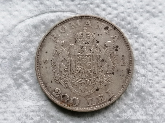 Romania 200 lei 1942 argint 2