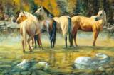 Puzzle Schmidt - 1000 de piese - Brent Flory: Horse Lovers