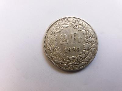 Elvetia 2 franci 1920 foto