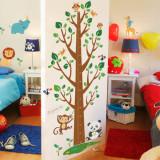 Cumpara ieftin Sticker decorativ cu gradatie pentru inaltime Metru Jungle autocolant de perete pentru camera copii