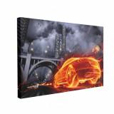 Cumpara ieftin Tablou Canvas Car on Fire, CanvasGift