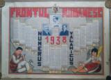 Calendar litografiat/ 1938, Frontul Romanesc, Carol II, Alexandru Vaida-Voevod