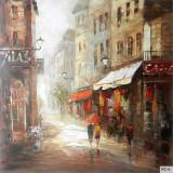 Paris- pictura in ulei OP-2, Peisaje, Realism