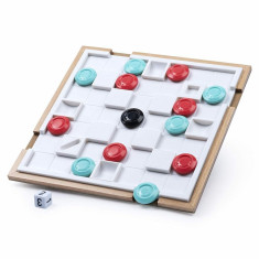 Joc de strategie 3D din lemn Marbles Tipsy
