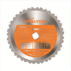 Disc circular de taiere multifunctional O185 x 20 mm Evolution EVORAGEBLADE185MULTI 9883 20 Dinti