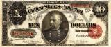 10 dolari 1891 Reproducere Bancnota USD , Dimensiune reala 1:1