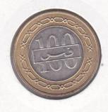 Bnk mnd Bahrain 100 fils 2005 unc , bimetal, Asia