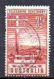 Australia 1954, Aniversari -100 de ani Telegrafie, stampilat