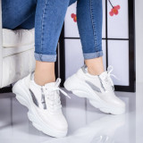 Pantofi dama sport albi Trepasi
