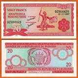 = BURUNDI - 20 FRANCS – 2007 -  UNC   =