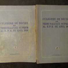 CULEGERE DE DECIZII ALE TRIBUNALULUI SUPREM 1956 2 VOLUME