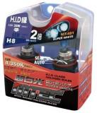 SET 2 becuri auto H8 MTEC super white-efect xenon