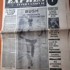 ziarul expres international 6-12 decembrie 1990-anul 1,nr. 1 al ziarului