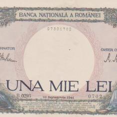 1000 LEI 10 SEPTEMBRIE 1941/UNC