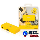 Hub USB 4 porturi Barcelona galben Sweex