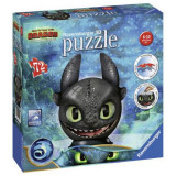 Puzzle 3D Toothless, 72 Piese
