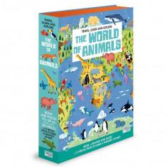 Puzzle cu carte - Lumea animalelor