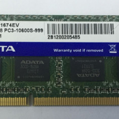 Memorie ram laptop sodimm ADATA 4Gb DDR3 1333Mhz PC3-10600, 1.5V