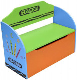 Cumpara ieftin Bancuta pentru depozitare jucarii Blue Crayon