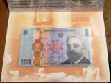 100 lei 2019, IC Brătianu, România, în folder