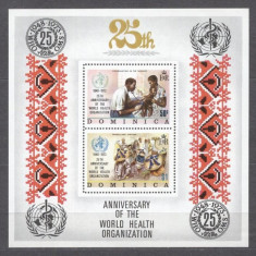 Dominica 1973 25 years WHO perf. sheet MNH S.645