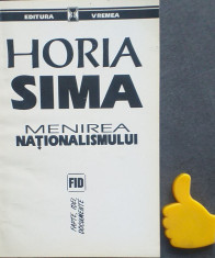 Menirea nationalismului Horia Sima foto