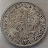 Moneda 2 ZLOTI - POLONIA, anul 1958  *cod 455