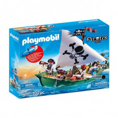 Playmobil Pirates - Barca piratilor cu motor