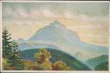 """Carte Postala - Ceahlaul, vazut din Petru-Voda de sculptorul V. A. Gh. """"CP21"""""""