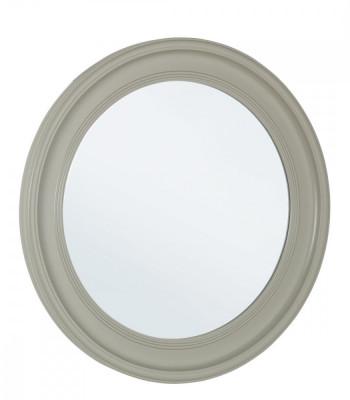 Oglinda decorativa perete cu rama rotunda lemn gri diametru 78 cm Elegant DecoLux foto