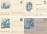 România, lot 4 cărţi poştale necirculate, aerofilatelie 2