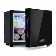 Klarstein Frosty, mini frigider, clasa energetică A, ușă din sticlă oglindă, 10 litri, negru