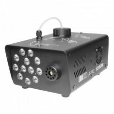 Masina de fum 1200 W LED jocuri de lumini Wireless negru
