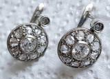 Cercei diamante aur 18k