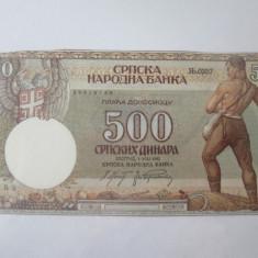 Cumpara ieftin Serbia 500 Dinara 1942,bancnotă necirculată cu marginile tăiate