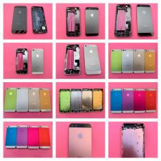 Carcasa completa Apple iPhone 5 si 5S rama mijloc corp capac spate capac baterie