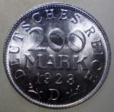 7.734 GERMANIA WEIMAR 200 MARK 1923 D AUNC, Europa, Aluminiu
